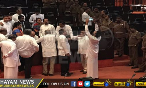 Chaos in Sri Lanka parliament as JO MP Dinesh Gunawardena suspended for unruly behavior