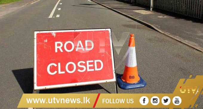 Galle Road closed from Colpitty temporarily closed