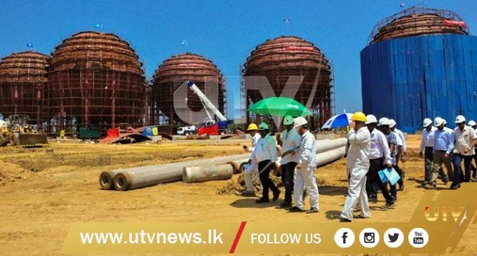 Chinese company-constructed LPG Terminal at Hambantota Port completed
