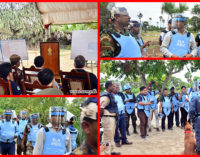 Cambodian De-miners in Muhamalai Learn from Army Humanitarian De-miners