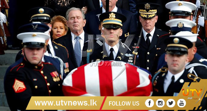 George HW Bush celebrated with praise and humour at cathedral farewell