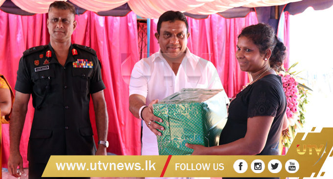 New domestic sanitary facilities for low income families in Jaffna