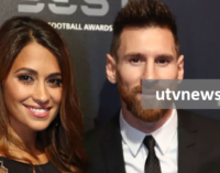 Lionel Messi receives the Creu de Sant Jordi 2019