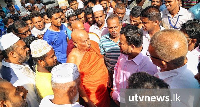 Minister Rishad visits conflict hit Minuwangoda [PICTURES]