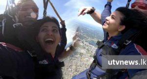 Anjali in sky dive