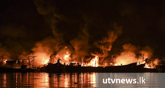 Fire destroys 20 boats in Hungama Fishing Harbour