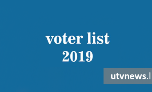 2019 Electoral List for public viewing from today