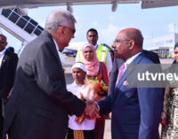Warm welcome for PM Ranil Wickremesinghe