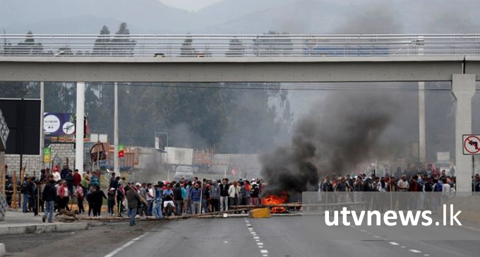 Ecuador protests: Indigenous groups block highways as protests continue