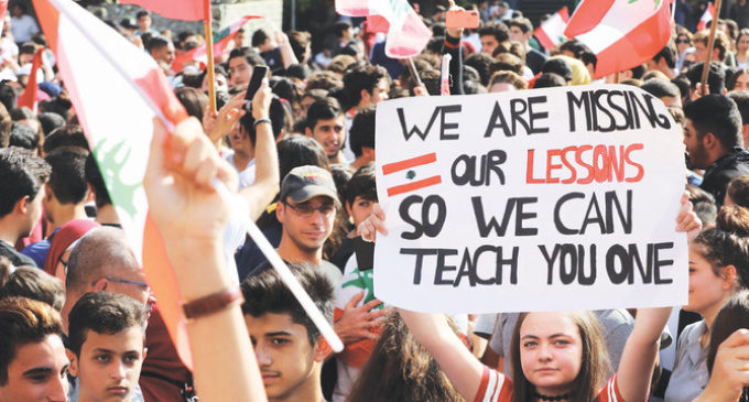 Lebanese students join Beirut protests