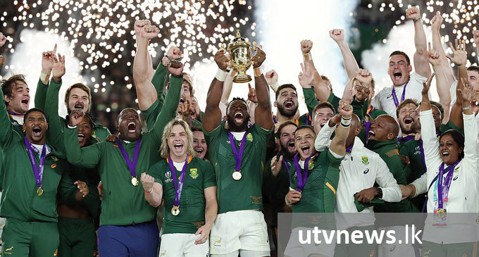 South Africa stuns England to win Rugby World Cup