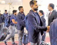 Lankan cricketers arrive in Pakistan amid tight security