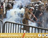Police fires tear gas and water cannons at university students
