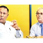 NOC Sri Lanka president Suresh Subramaniam and secretary-general Maxwell de Silva